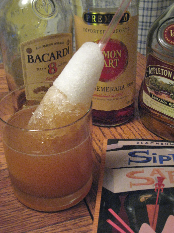 Luau Grog with ice cone
